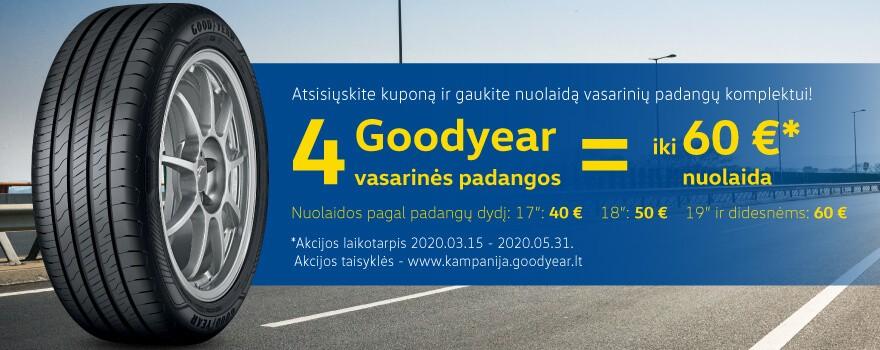 Goodyear iki 60 € nuolaida